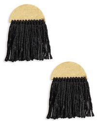 Madewell - Halfmoon Fringe Drop Earrings - Lyst
