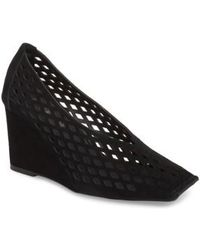 Jeffrey Campbell - Vanira Perforated Wedge - Lyst