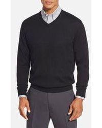 Cutter & Buck - Douglas Merino Wool Blend V-neck Sweater - Lyst