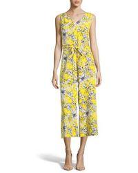 Eci - Tropical Print Sleeveless Jumpsuit - Lyst