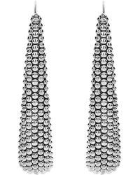 Lagos - Signature Caviar Linear Earrings - Lyst