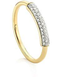 Monica Vinader Stellar Diamond Band Ring - Metallic