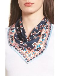 Tory Burch | Floral Stamped Silk Scarf | Lyst