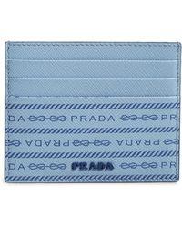 Prada Logo Print Leather Card Case - Multicolour