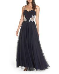 Blondie Nites - Blondie Nights Embellished Tulle Gown - Lyst
