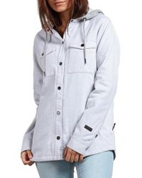 Volcom - Hooded Layered Jacket - Lyst