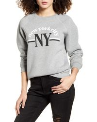 BP. Nyc Graphic Sweatshirt - Gray