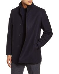 Theory Christopher Wool Blend Coat - Blue