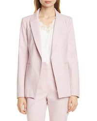 TAILORED BY REBECCA TAYLOR Stretch Suit Jacket - Pink