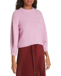 Sweater Wool Cozette Tibi Alpaca amp; Blend Lyst Crop qBxFwP