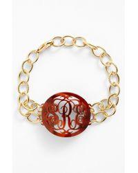 Moon & Lola - 'annabel' Medium Oval Personalized Monogram Bracelet (nordstrom Exclusive) - Lyst
