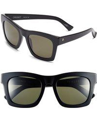 Electric 'crasher' 54mm Retro Sunglasses - Gloss Black/ Grey