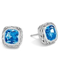 John Hardy - Magic Cut Blue Topaz Stud Earrings - Lyst