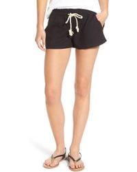 Roxy - 'oceanside' Linen Blend Shorts - Lyst