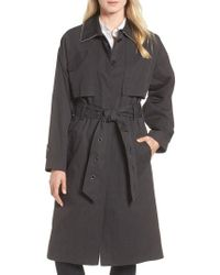 Badgley Mischka - Cotton Blend Utility Trench Coat - Lyst