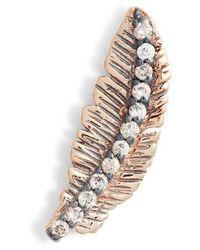 Kismet by Milka - Feather Champagne Diamond Single Earring - Lyst
