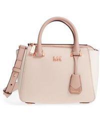 Michael Kors | Michael Mini Leather Messenger Bag | Lyst