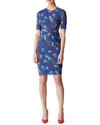 Whistles - Phoebe Iris Print Stretch Silk Body-con Dress - Lyst