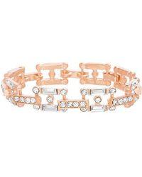 Steve Madden - Crystal Link Bracelet - Lyst