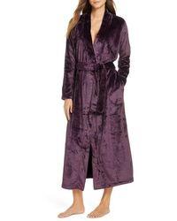 UGG UGG Marlow Double-face Fleece Robe - Purple