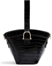 2f5d52c6fd99 Lyst - TOPSHOP Capri Buckle Crossbody Bag in Natural