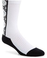 Acne Studios Face Socks - White
