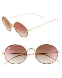 Ray-Ban - 53mm Round Sunglasses - Lyst