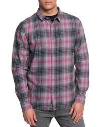 Quiksilver - Fatherfly Flannel Shirt - Lyst