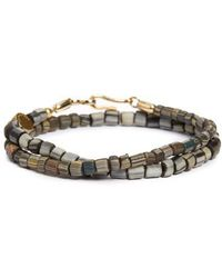 Caputo & Co. - Glass Bead Wrap Bracelet - Lyst