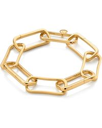 Monica Vinader Gold Vermeil Alta Capture Large Link Charm Bracelet - Metallic