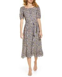 Fraiche By J Jami Floral Print Tiered Midi Dress - Multicolor
