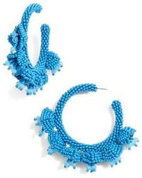 Sachin & Babi - Noir Grape Cluster Hoop Earrings - Lyst