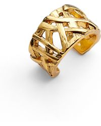 Karine Sultan Adjustable Ring - Metallic
