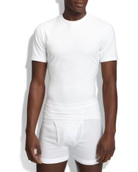 Spanx - Spanx Crewneck Cotton Compression T-shirt - Lyst