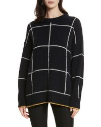 Elizabeth and James | Fionn Windowpane Oversized Sweater | Lyst