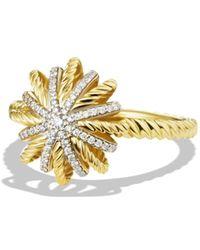 David Yurman - 'starburst' Ring With Diamonds In Gold - Lyst