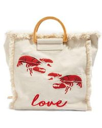 TOPSHOP | Bobby Lobster Love Canvas Shopper | Lyst