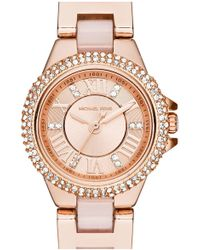 69d66f723a72 Lyst - MICHAEL Michael Kors Women s Small Gold Camille Watch in Metallic