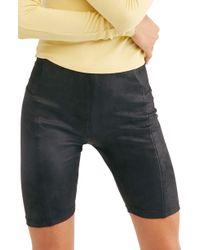 Free People - Heatwave Faux Suede Bike Shorts - Lyst