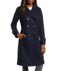 Kenneth Cole - Wool Blend Military Coat - Lyst