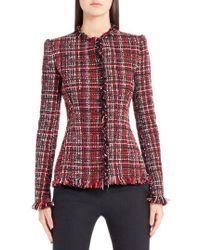 Alexander McQueen - Frayed Artisan Tweed Jacket - Lyst