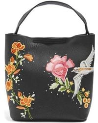 TOPSHOP | Embellished Faux Leather Tote Bag | Lyst