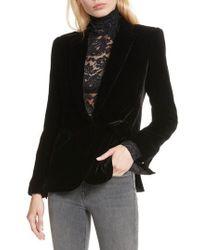 L'Agence - Velvet Blazer - Lyst