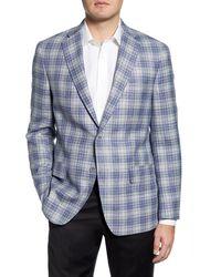 Hart Schaffner Marx - Classic Fit Plaid Wool Blend Sport Coat - Lyst