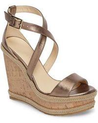 Jimmy Choo | Portia Wedge Platform Sandal | Lyst