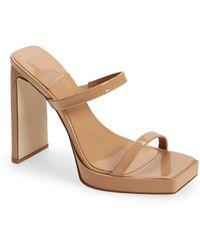 Jeffrey Campbell Hustler Platform Sandal - Natural