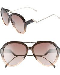 Fendi - 58mm Aviator Sunglasses - Lyst