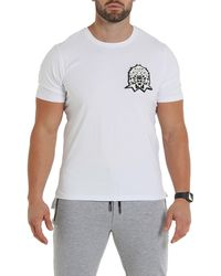 Maceoo Lion Patch Tee - White