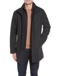Cole Haan - Melton Wool Blend Coat - Lyst