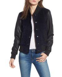 Hudson Jeans - Leather & Corduroy Varsity Jacket - Lyst